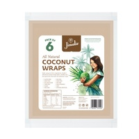 Coconut Wraps Jimalie All Natural / Pack of 6