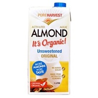 Almond Milk Activated, UNSWEETENED Organic 1L