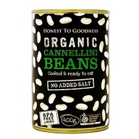Cannellini Beans Organic 400g - BPA Free (Cooked)