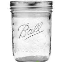 Jar 475ml, Pint Ball Mason Wide Mouth