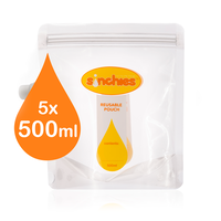 Sinchies Food Pouch 500ml - 5 pack