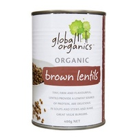 Lentils Brown Organic 400g Global Organics