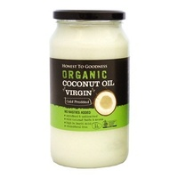 Coconut Oil Purified and Deodorised Organic 1Litre
