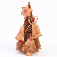 Xmas Tree Decorations - Handmade Recycled Tea Bags (4)