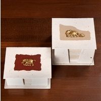 Handmade Brass Elephant Dung Paper Holder - Large