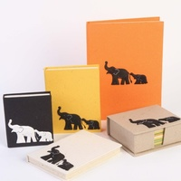 Handmade Mother & Child Motif Journal Large - Elephant Dung Paper