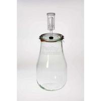 Jar Fermenting with Airlock 2.5 Litre Cylinder - Weck