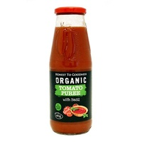 Tomato Puree With Basil Organic 690g