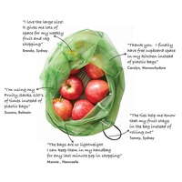 Reusable Shopping Bag (3 Pack) by Fruity Sacks