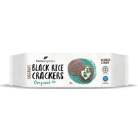 Black Rice Crackers Organic 115g