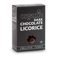 Dark Chocolate Licorice Organic 150g