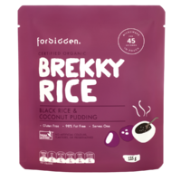 Black Rice & Coconut Organic Instant Brekky Rice Pudding by Forbidden 125g