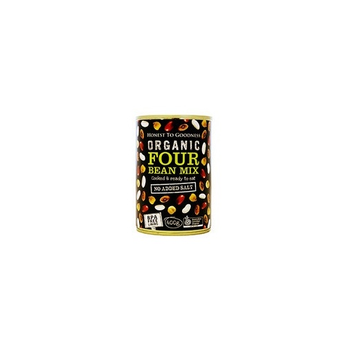 Four Beans Mix Organic 400g - BPA Free (Cooked)