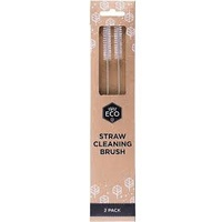 Straw Stainless Steel Cleaning Brush - 2 Pack by Ever Eco