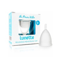 Menstrual Cup Clear Reusable Model 2 by Lunette